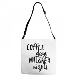 Coffee days, whiskey nights Adjustable Strap Totes | Artistshot