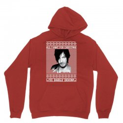 daryl dixon christmas ugly for red Unisex Hoodie | Artistshot