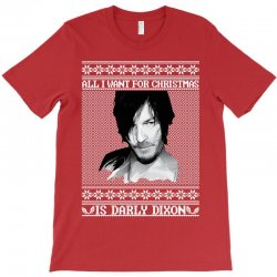 daryl dixon christmas ugly for red T-Shirt | Artistshot