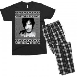 daryl dixon christmas ugly for red Men's T-shirt Pajama Set | Artistshot