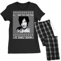 daryl dixon christmas ugly for red Women's Pajamas Set | Artistshot
