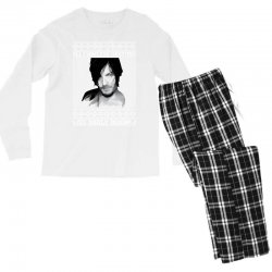 daryl dixon christmas ugly for red Men's Long Sleeve Pajama Set | Artistshot