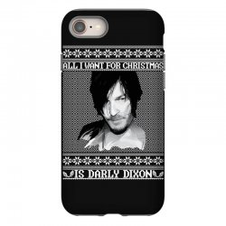 daryl dixon christmas ugly for red iPhone 8 Case | Artistshot