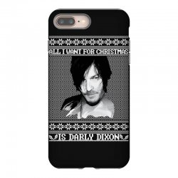 daryl dixon christmas ugly for red iPhone 8 Plus Case | Artistshot