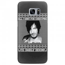 daryl dixon christmas ugly for red Samsung Galaxy S7 Edge Case | Artistshot