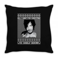 daryl dixon christmas ugly for red Throw Pillow | Artistshot