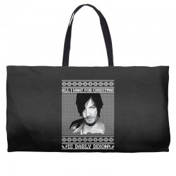 daryl dixon christmas ugly for red Weekender Totes | Artistshot