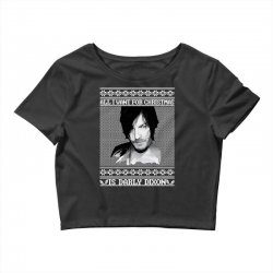 daryl dixon christmas ugly for red Crop Top | Artistshot