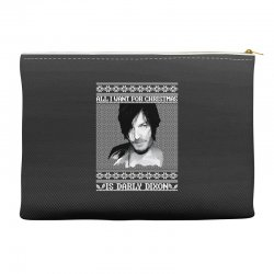 daryl dixon christmas ugly for red Accessory Pouches | Artistshot