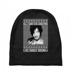 daryl dixon christmas ugly for red Baby Beanies | Artistshot