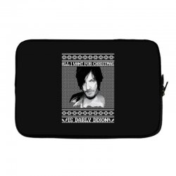 daryl dixon christmas ugly for red Laptop sleeve | Artistshot