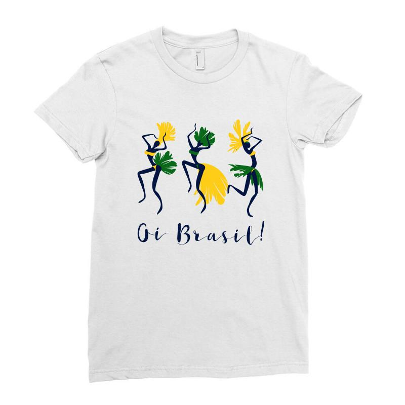 Oi Brasil Ladies Fitted T-shirt | Artistshot