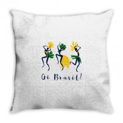 Oi Brasil Throw Pillow | Artistshot