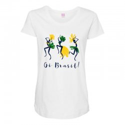 Oi Brasil Maternity Scoop Neck T-shirt | Artistshot
