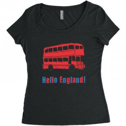 hello England Women's Triblend Scoop T-shirt | Artistshot