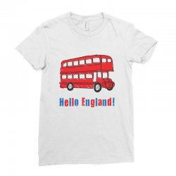 hello England Ladies Fitted T-Shirt | Artistshot