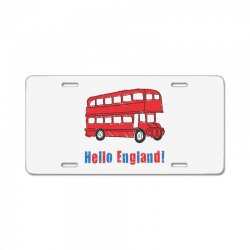 hello England License Plate | Artistshot