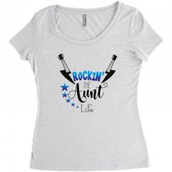 rockin the aunt life Women's Triblend Scoop T-shirt | Artistshot