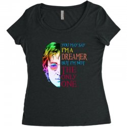 you may say i'm a dreamer Women's Triblend Scoop T-shirt | Artistshot