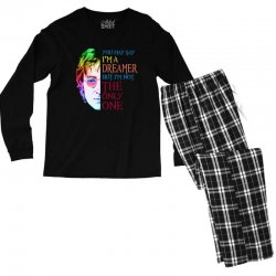 you may say i'm a dreamer Men's Long Sleeve Pajama Set | Artistshot