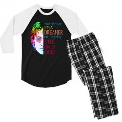 you may say i'm a dreamer Men's 3/4 Sleeve Pajama Set | Artistshot