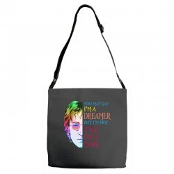 you may say i'm a dreamer Adjustable Strap Totes | Artistshot