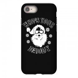 whos your daddy hoodie santa ugly sweater party iPhone 8 | Artistshot