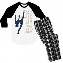 Rhythmic gymnastics - Clubs Men's 3/4 Sleeve Pajama Set | Artistshot