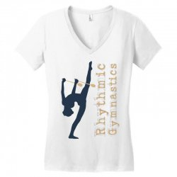 Rhythmic gymnastics - Clubs Women's V-Neck T-Shirt | Artistshot