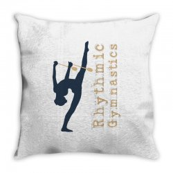 Rhythmic gymnastics - Clubs Throw Pillow | Artistshot