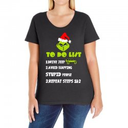 the grinch to do list drive jeep christmas Ladies Curvy T-Shirt | Artistshot