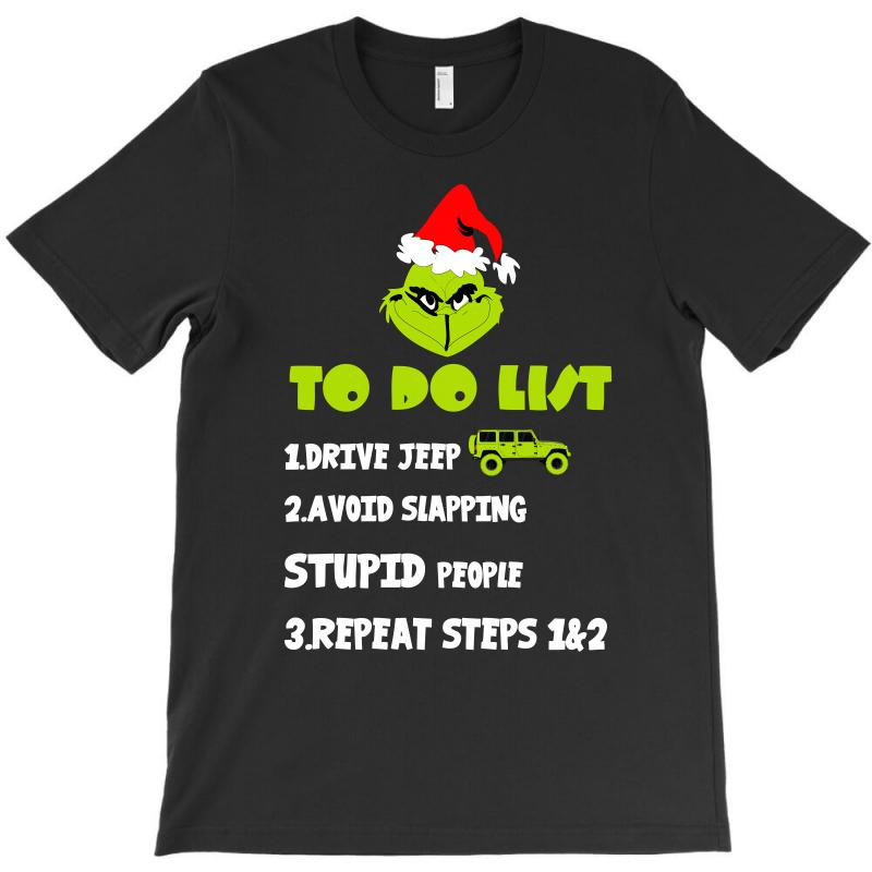 The Grinch To Do List Drive Jeep Christmas T-shirt | Artistshot