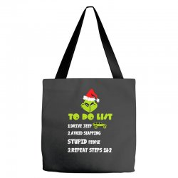 the grinch to do list drive jeep christmas Tote Bags | Artistshot