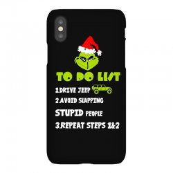 the grinch to do list drive jeep christmas iPhoneX | Artistshot