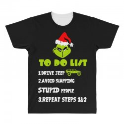 the grinch to do list drive jeep christmas All Over Men's T-shirt | Artistshot