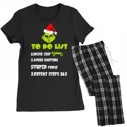 the grinch to do list drive jeep christmas Women's Pajamas Set | Artistshot