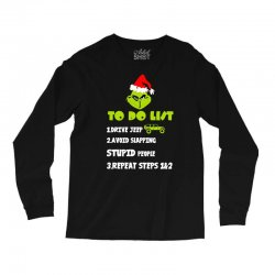 the grinch to do list drive jeep christmas Long Sleeve Shirts | Artistshot