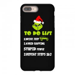 the grinch to do list drive jeep christmas iPhone 8 Plus Case | Artistshot
