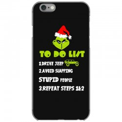 the grinch to do list drive jeep christmas iPhone 6/6s Case | Artistshot