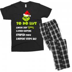 the grinch to do list drive jeep christmas Men's T-shirt Pajama Set | Artistshot
