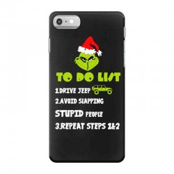 the grinch to do list drive jeep christmas iPhone 7 Case | Artistshot