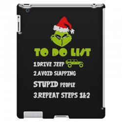 the grinch to do list drive jeep christmas iPad 3 and 4 Case | Artistshot