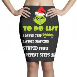 the grinch to do list drive jeep christmas Pencil Skirts | Artistshot
