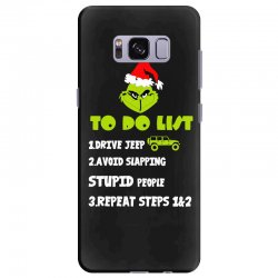 the grinch to do list drive jeep christmas Samsung Galaxy S8 Plus Case | Artistshot