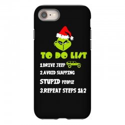 the grinch to do list drive jeep christmas iPhone 8 Case | Artistshot