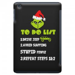 the grinch to do list drive jeep christmas iPad Mini Case | Artistshot