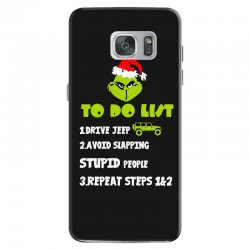 the grinch to do list drive jeep christmas Samsung Galaxy S7 Case | Artistshot
