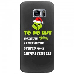 the grinch to do list drive jeep christmas Samsung Galaxy S7 Edge Case | Artistshot