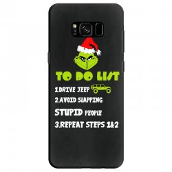 the grinch to do list drive jeep christmas Samsung Galaxy S8 Case | Artistshot