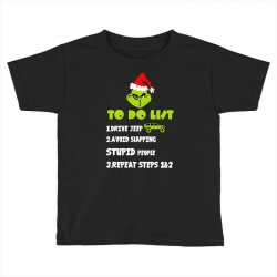 the grinch to do list drive jeep christmas Toddler T-shirt | Artistshot